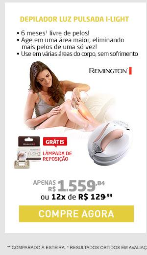 DEPILADOR LUZ PULSADA I-LIGHT PRO REMINGTON + L MPADA DE REPOSIÇÃO