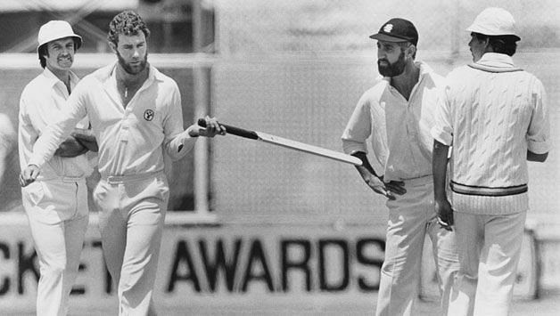 The aluminum bat was first used by Australian fast bowler Dennis Lillee in 1979
