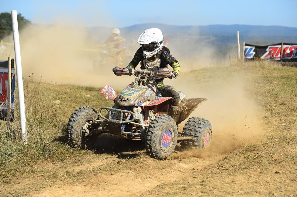 Angel Knox grabbed the WXC holeshot on Saturday morning at the Mountaineer Run GNCC.