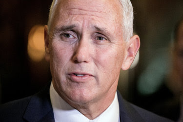Vice President-elect Mike Pence spoke to reporters on Sunday in the lobby of Trump Tower in New York.
