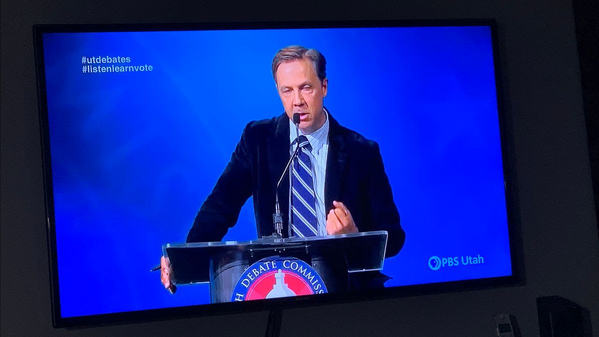 Kael Weston at the Utah Debate Commission