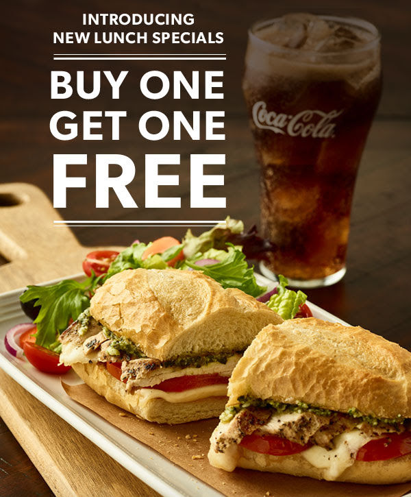 Introducing New Lunch Specials Buy One Get One Free