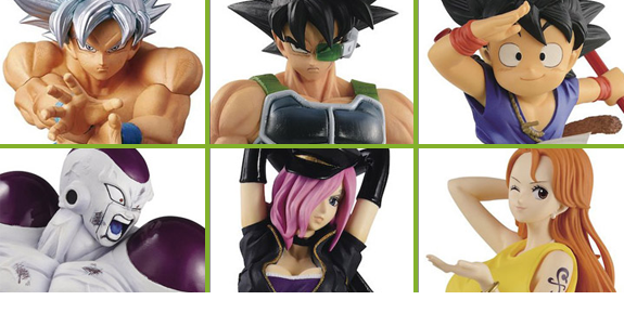 BANPRESTO DRAGON BALL Z & ONE PIECE FIGURES