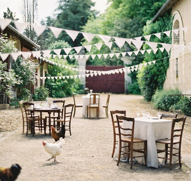 Diy Tea Dyed Bunting Wedding Ideas
