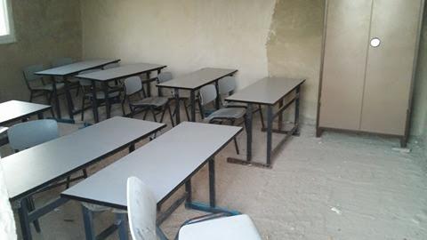 Het door de EU gefinancierde schoolgebouw in betere tijden.
