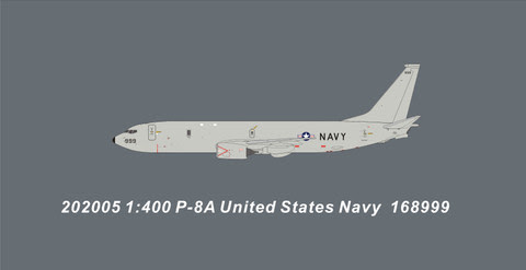 PM202005 | Panda Models 1:400 | Boeing P-8A Poseidon US Navy 168999 | is due: May 2020