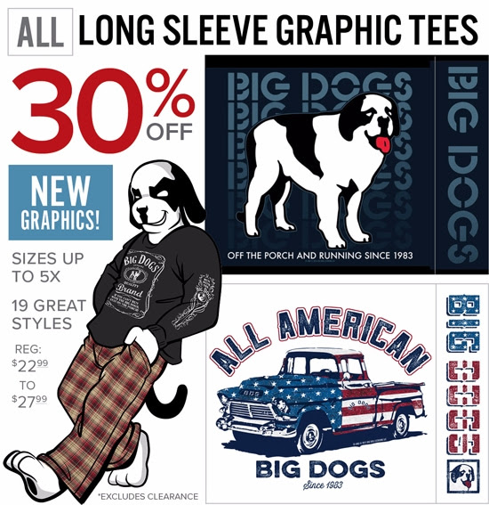 30% OFF Long-Sleeve Tees - New...
