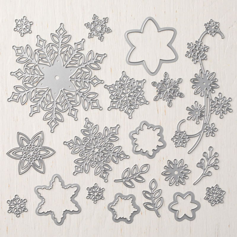 149692G Snowfall Thinlits DIes Stampin' Up!