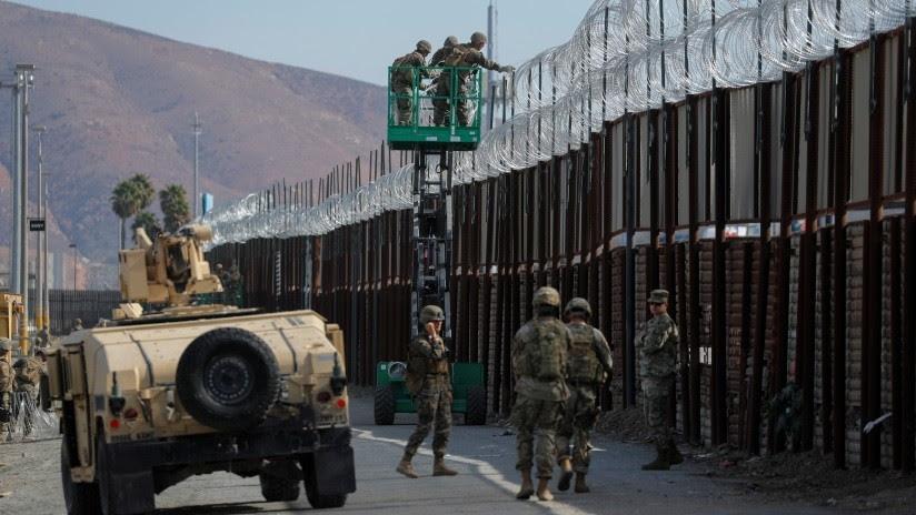 Reportes: Trump autoriza a militares a usar fuerza letal contra migrantes en la frontera con México
