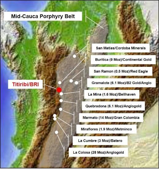 Mid-Cauca Porphyry Belt