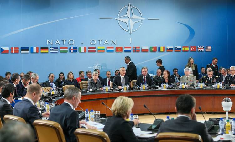 NATO Defense Ministers gather at alliance headquarters in Brussels. (Stephanie Lecocq/European Pressphoto Agency)