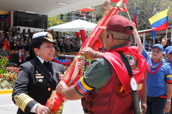 Desfile cívico-militar en homenaje al Comandante Hugo Chávez. Foto Prensa Miraflores.