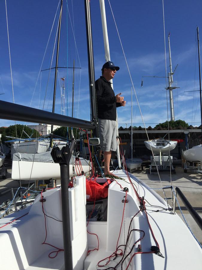 Will Welles from North Sails- seminar at YC Punta del Este