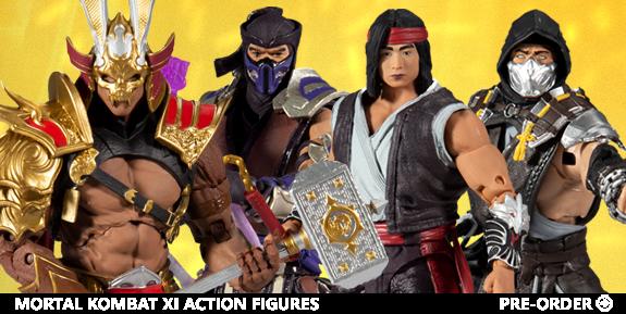 Mortal Kombat Shao Kahn, Scorpion, Sub-Zero and Liu Kang