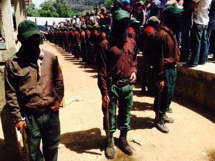 Zapatistas en La Realidad. Foto: Isaín Mandujano.