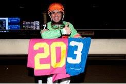 Eurico Da Silva was the meet's leading jockey with 203 wins