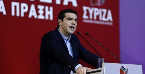 Tsipras acusa a España y Portugal de formar un eje contra Grecia en un discurso dado en Atenas. REUTERS