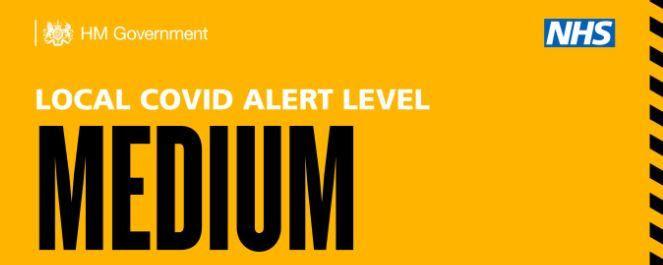 Government Medium COVID alert level Banner