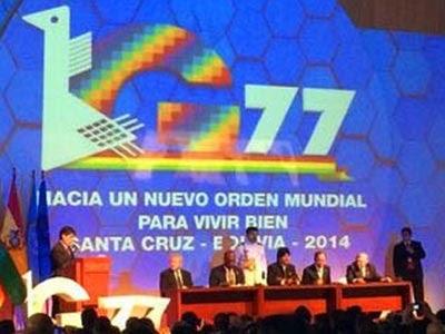 Inauguración de la cumbre de jefes de Estado del G77 y China que se celebra en Bolivia.