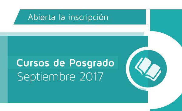 Cursos de Posgrado - Septiembre 2017