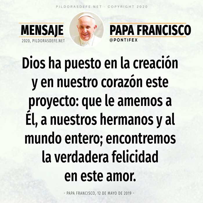 Reflexión de hoy 30 de mayo por el Papa Francisco