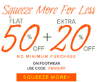 Flat 50% off + Extra 20% off on Fashion Apparel & Acessories