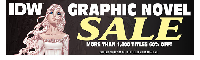 IDW SDCC Graphic Novel Sale: up to 60% off! | Ends 7/28