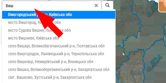 Пошук земельної ділянки за адресою