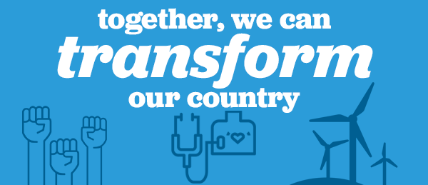 Together, we can transform this country.