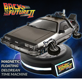 1/20 SCALE MAGNETIC FLOATING DELOREAN TIME MACHINE