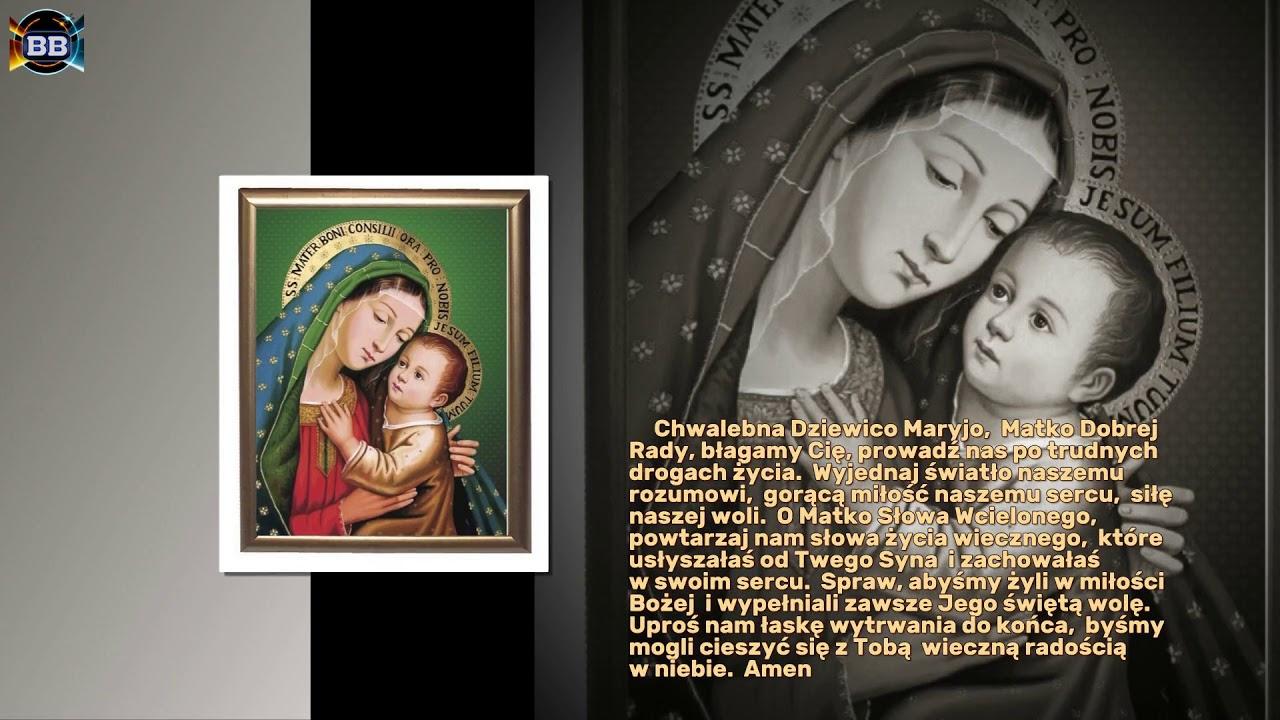 Modlitwa do Matki Bożej Dobrej Rady - YouTube
