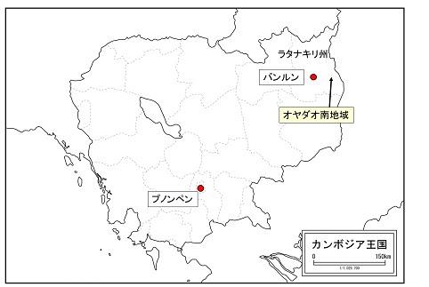オヤダオ南地域の位置図