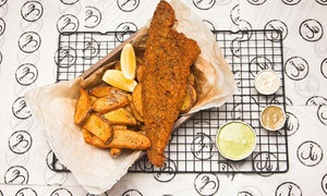 Fish and Chips with Drink
