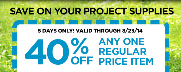 SAVE ON YOUR PROJECT SUPPLIES