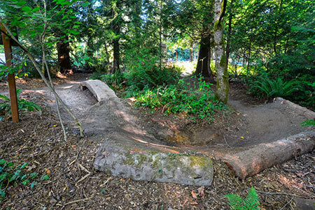 Redmond Bike Park berm