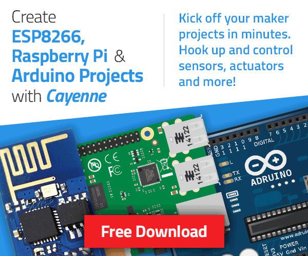 Create ESP8266, Raspbeery Pi, & Arduino Projecs With Cayenne