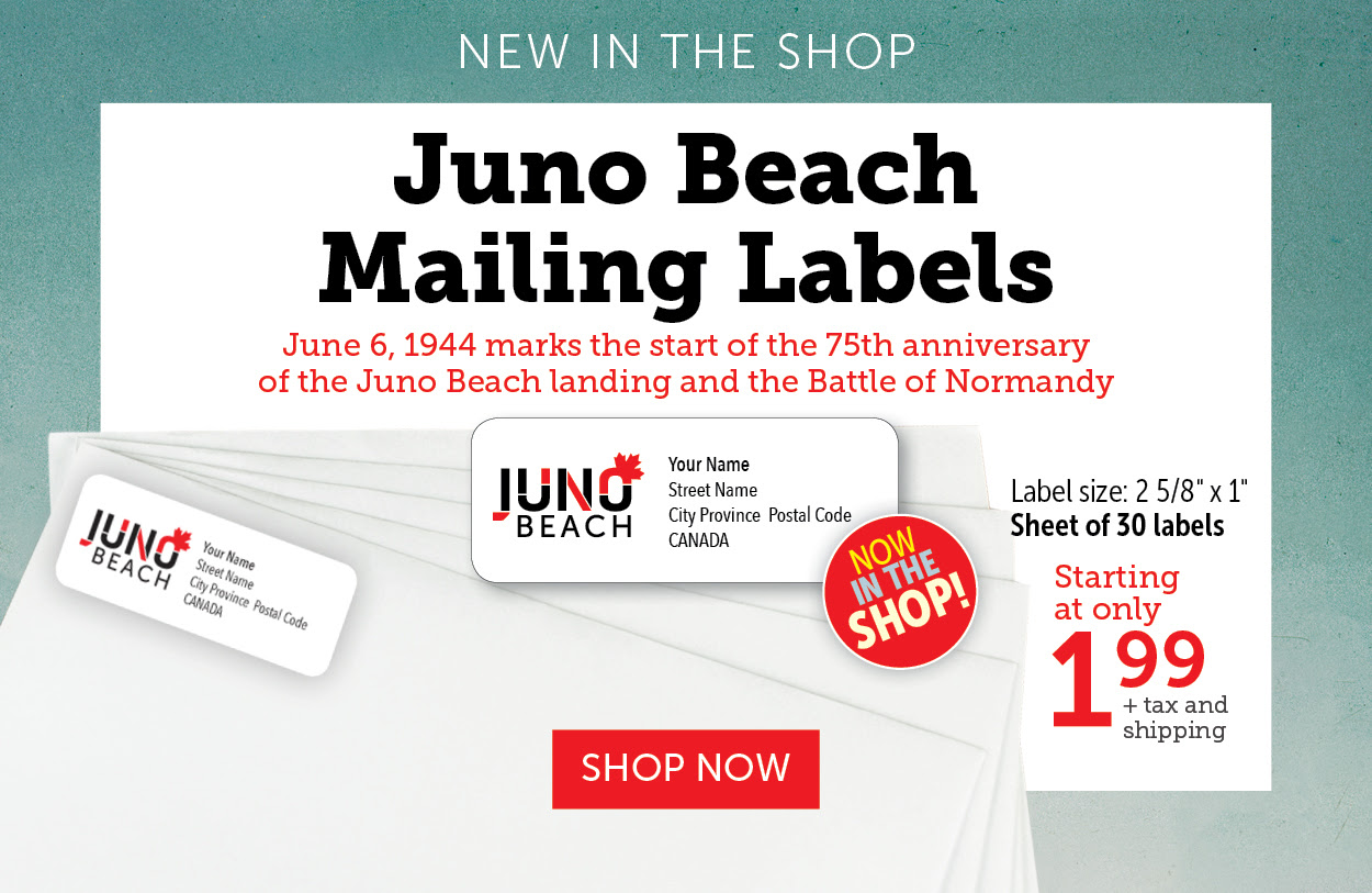 Juno Beach Mailing Labels!