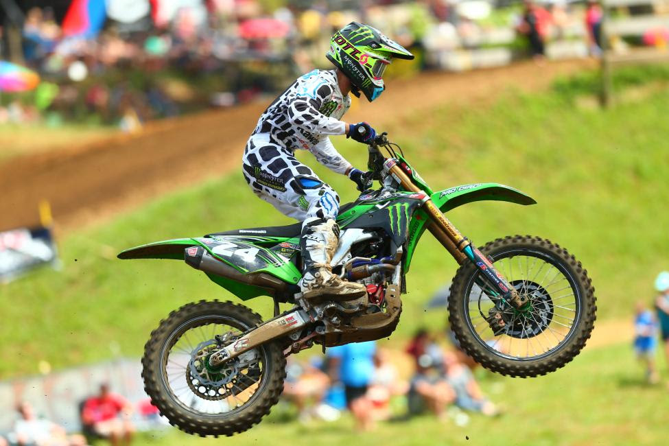 Forkner rounded out the 250 Class podium in third.Photo: MX Sports Pro Racing / Jeff Kardas
