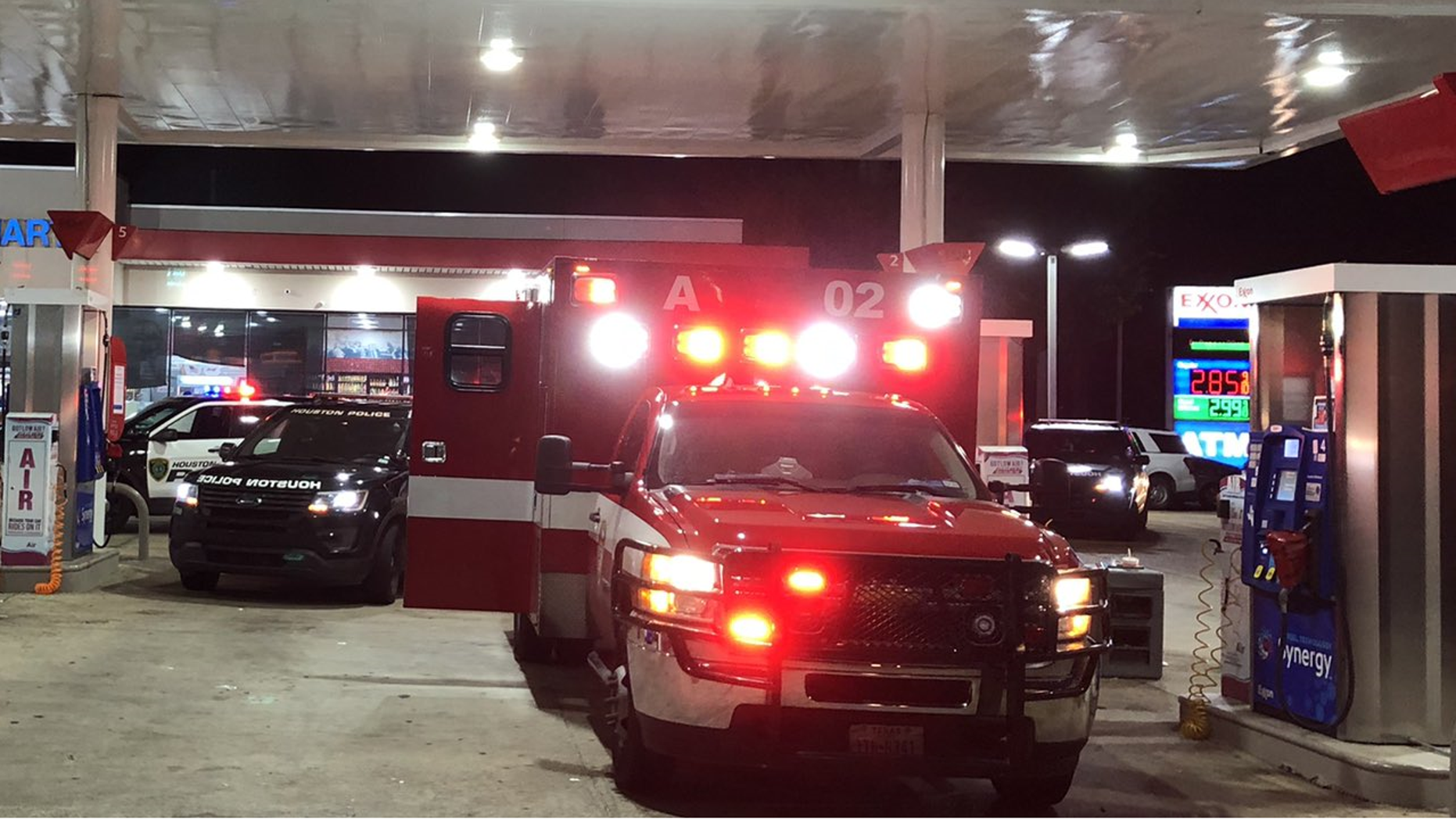 An ambulance in Houston, carrying a patient, was carjacked by an armed suspect
