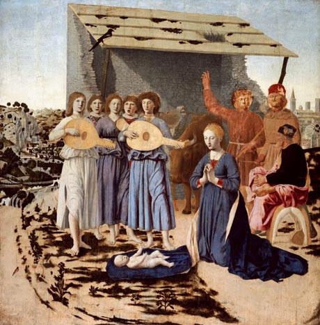 Un detalle de la Natividad de Piero della Francesca