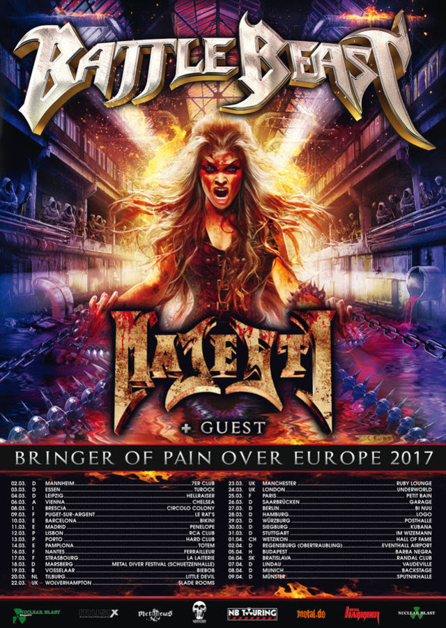 212908_212269_Battle_Beast_Tourflyer BATTLE BEAST : FIRST 'BRINGER OF PAIN' TRAILER LAUNCHED