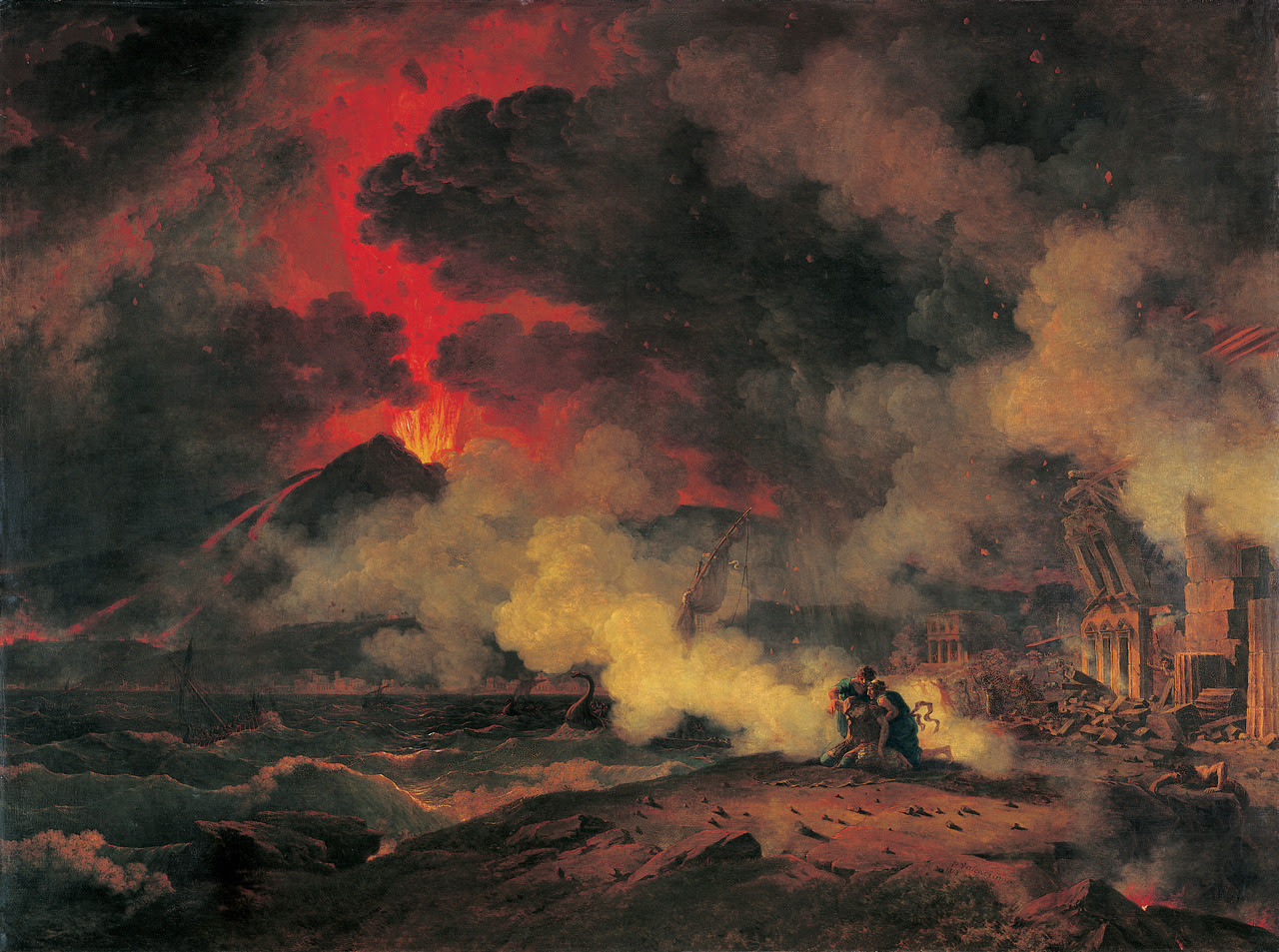 The Eruption of Vesuvius, 1813, Pierre-Henri de Valenciennes. Musée des Augustins, Toulouse. Photo: Daniel Martin Today marks the 1933th eruptiversary.  Coming up: The Last Days of Pompeii
