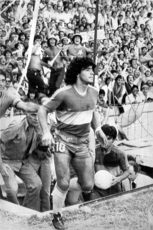 Maradona dans le club Boca Juniors