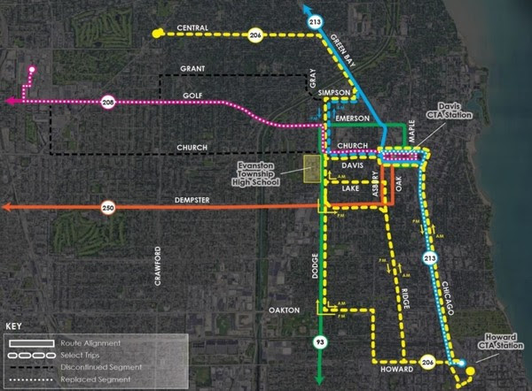 Cta Pace Issue New Route Change Plan Evanston Now