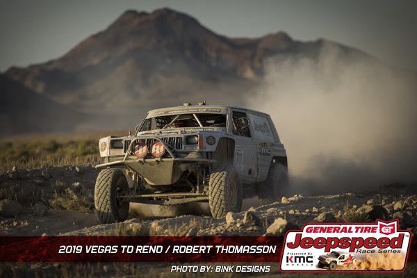 Robert Thomasson, Jeepspeed, Vegas To Reno, General Tire, KMC Wheels, Bink Designs