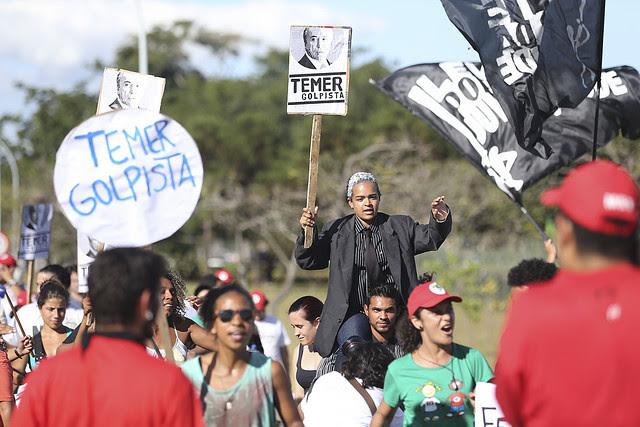 Fabio Rodrigues Pozzebom/ABR - Créditos: Manifestación realizada el 23/04 en el Palácio de Jaburu, en la residencia del vice presidente Temer