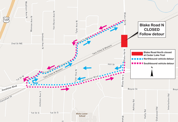 Blake Road Detour Map