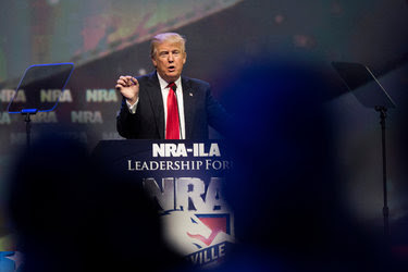 Donald J. Trump spoke at the N.R.A. convention in Louisville, Ky., in May.