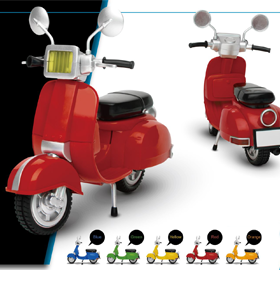 Motorbike Classic Style (Red) 1/12 Scale Figure Accessory