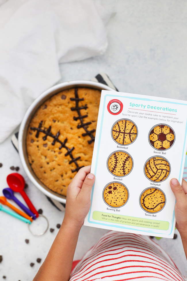 "Kids will learn to make popular tailgating and game day recipes including Ballpark Pretzels, Game Day Chili and a Sporty Cookie Cake in September's ""Game Day Gourmet"" kit that celebrates all things sports and-like cooking-the healthy values both foster."